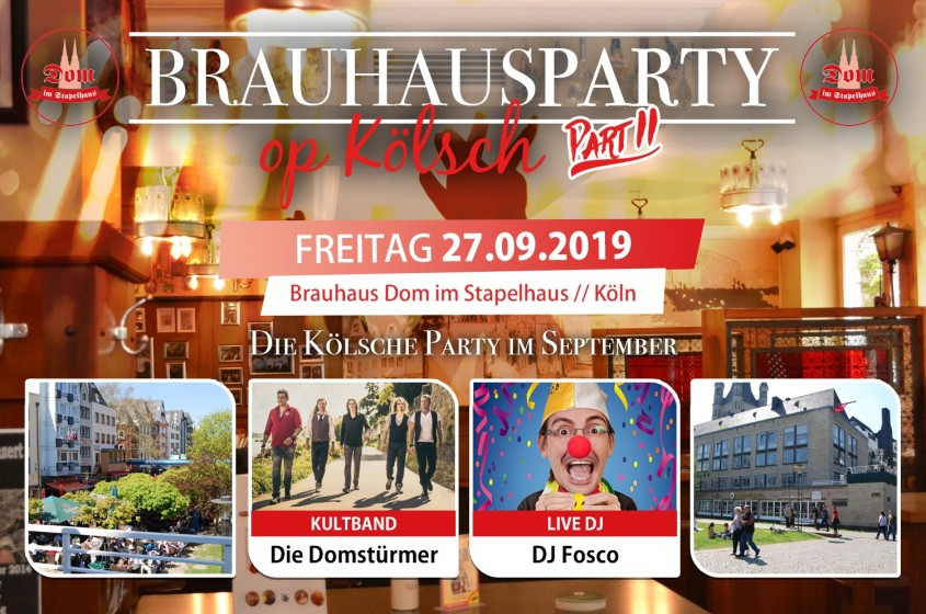 Brauhausparty op Kölsch – Part II, Sept 2019