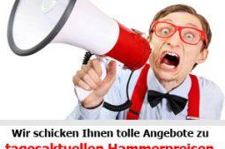 Tagesaktuelle Hammerpreise bei Koeln-Partyreisen.de